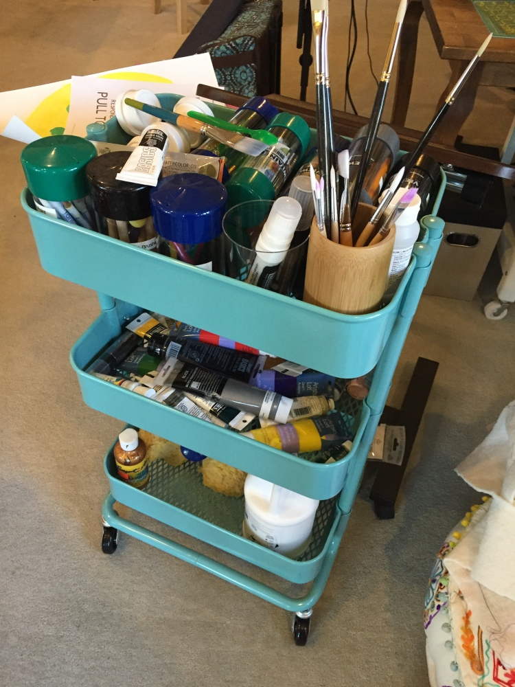An Organized Quilt Studio: Carts and Pegboards (2/5)